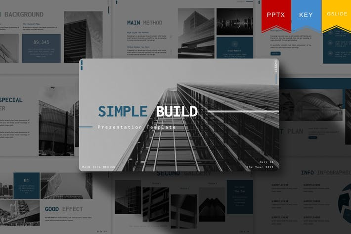 Thumbnail for Simple Build | Powerpoint, Keynote, Google Slides