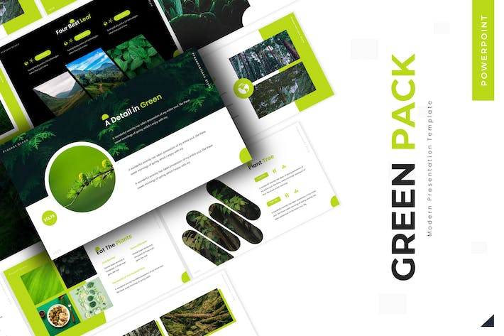 Thumbnail for Green Pack - Powerpoint Template