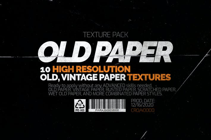 Thumbnail for Old Paper - Texture Pack