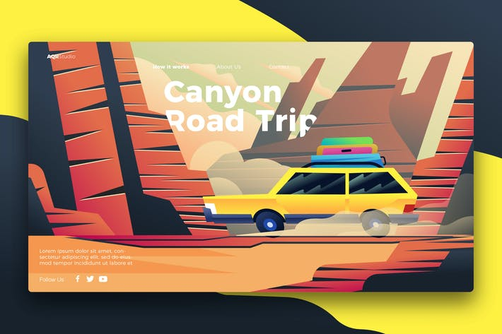 Thumbnail for road trip - Banner & Landing Page