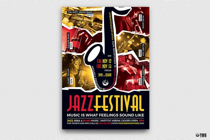 Thumbnail for Jazz Festival Flyer Template V8