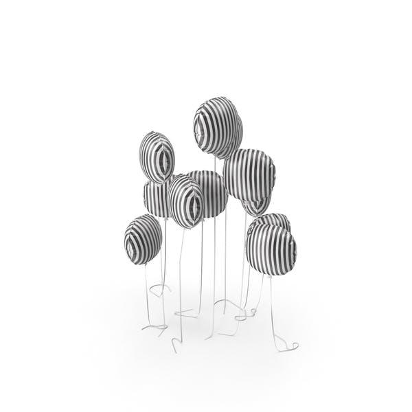 Striped Balloon Set
