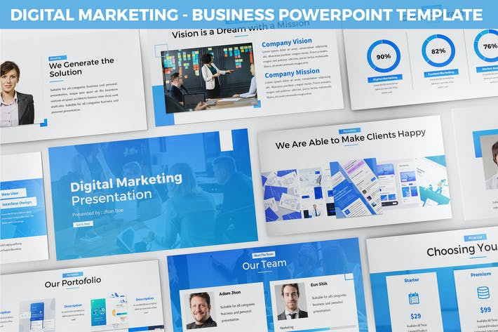 Thumbnail for Digital Marketing Powerpoint Template