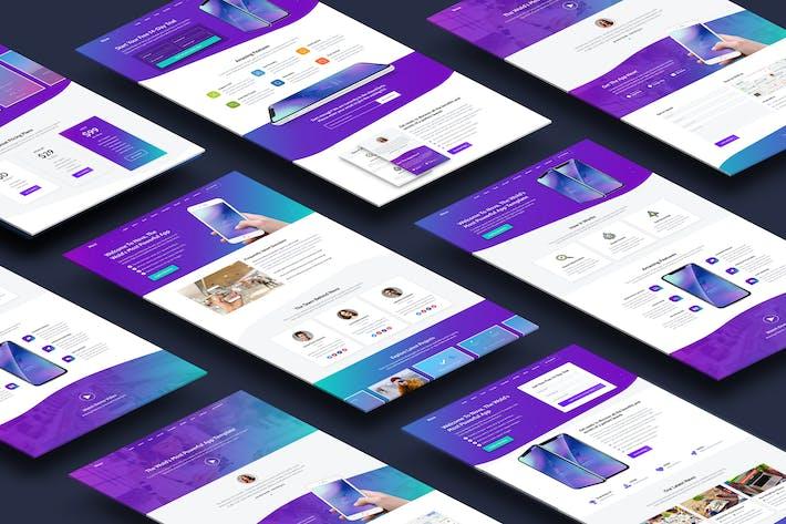 Thumbnail for Nova - Premium App Landing Page Template