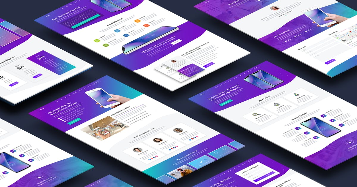 Download Nova - Premium App Landing Page Template by Epic-Themes