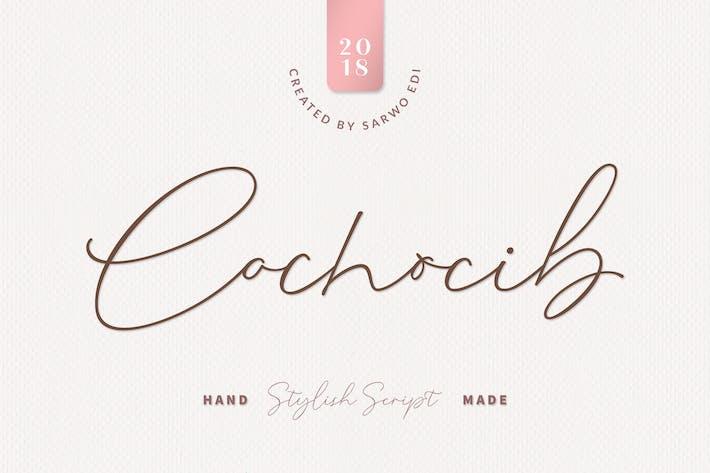 Thumbnail for Cochocib Script Latin Pro