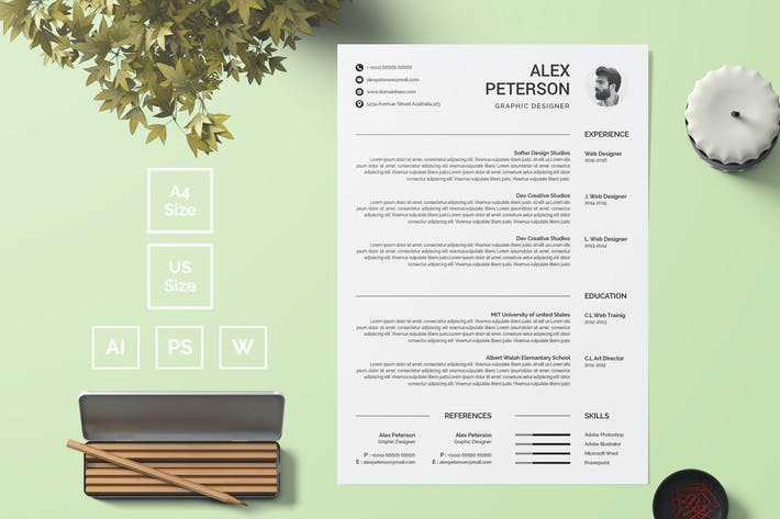 Thumbnail for Resume Template 20