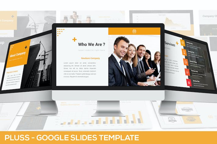 Thumbnail for Pluss - Google Slides Presentation Template