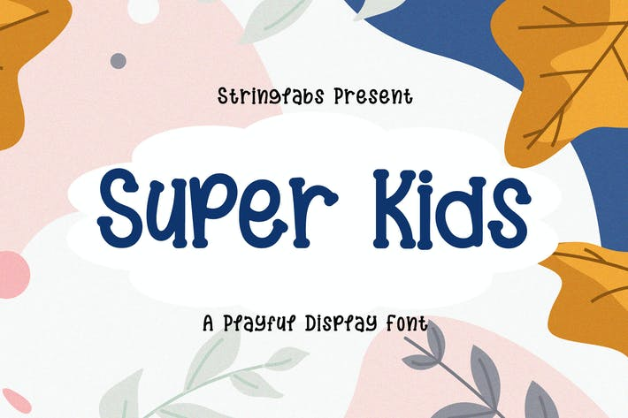 Thumbnail for Super Kids - Playful Display Font