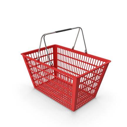 Roter Einkaufskorb