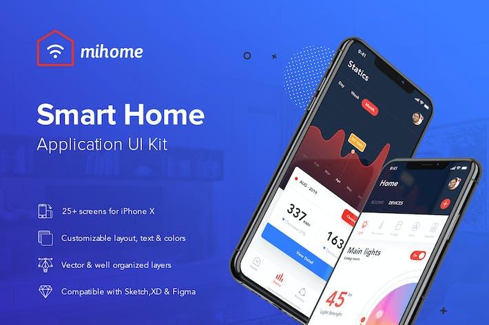 Thumbnail for Smart Home UI Kit - SKETCH Version