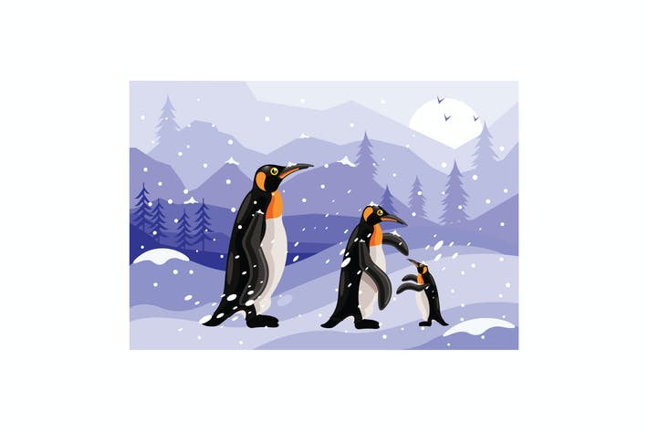 Thumbnail for Penguins Winter Graphics Illustration