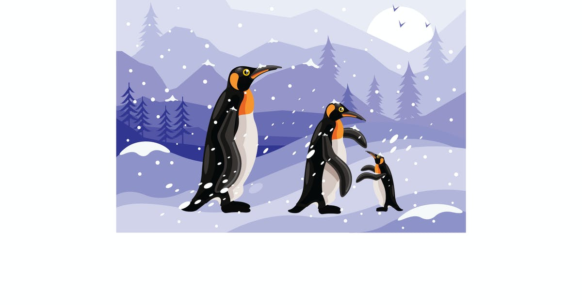 Download Penguins Winter Graphics Illustration by IanMikraz