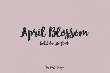 April blossom script brush font