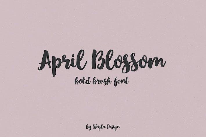 Thumbnail for April blossom script brush font