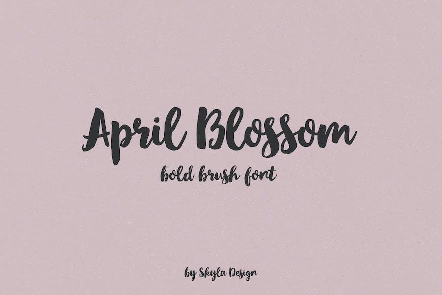 April Blossom script police de pinceau