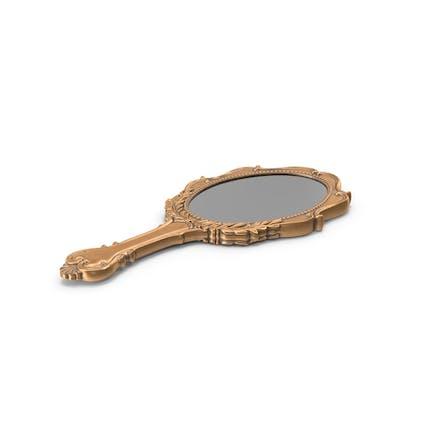 Старое латунное ручное зеркало
