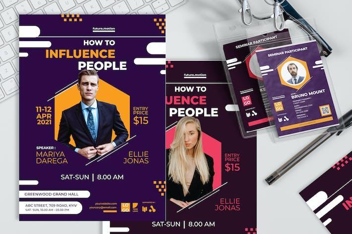 Menschen beeinflussen - Plakat und Seminareinladung