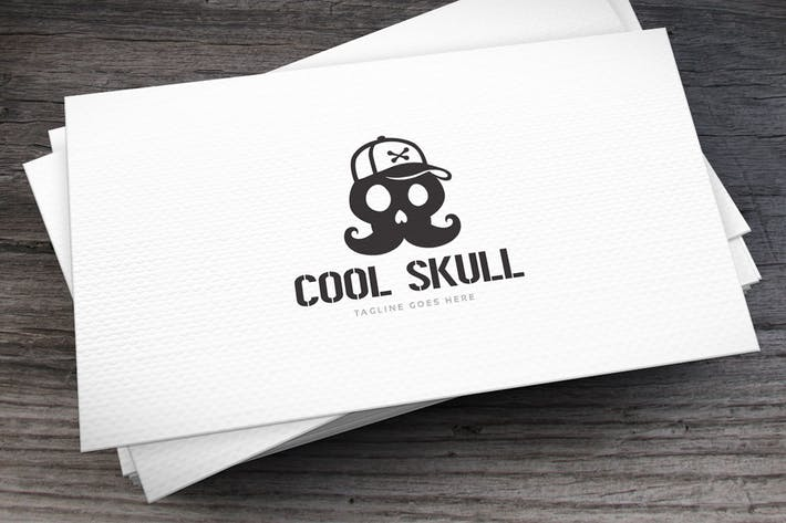 Thumbnail for Cool Skull Logo Template
