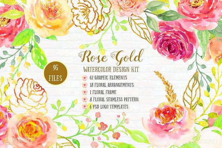 Thumbnail for Watercolor Design Kit Rose Gold