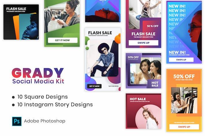 Thumbnail for Instagram Social Media Kit | Gradient