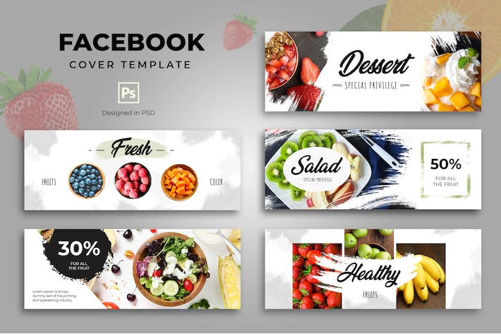 Thumbnail for Facebook Food Cover Template