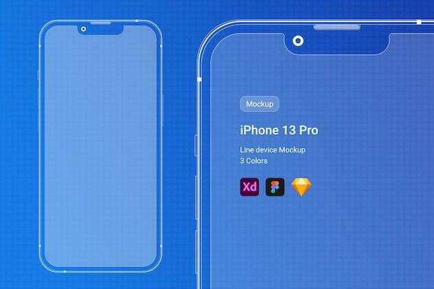 iPhone 13 Pro Line Mockup