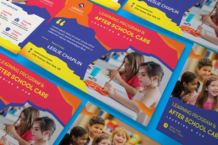 Thumbnail for Kids A5 Business Flyer PSD Template