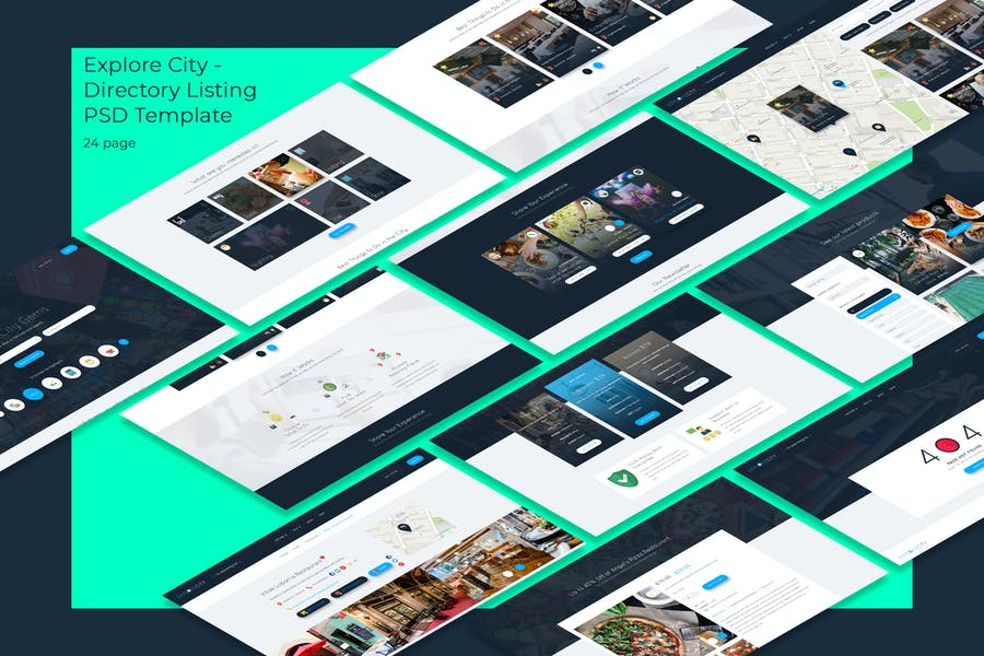 Explore City - Directory Listing PSD Template