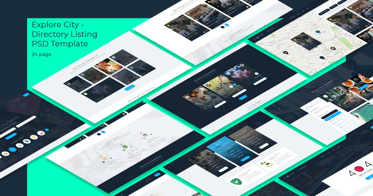 Download Explore City - Directory Listing PSD Template by angelbi88