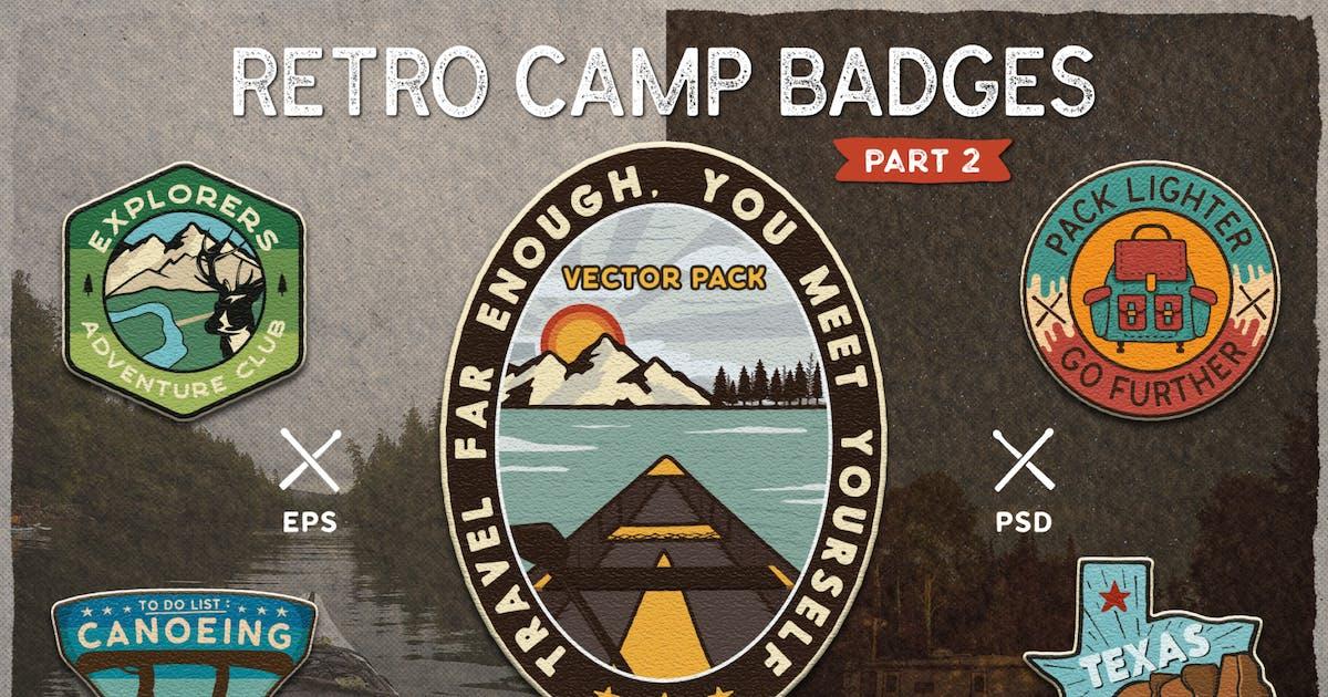 Download Retro Camp Badges / Adventure Logo Patches. Part 2 by JeksonJS