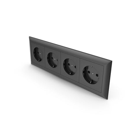4x Wall Socket Outlet