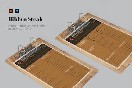Ribbro-Steakrestaurant Speisekarte
