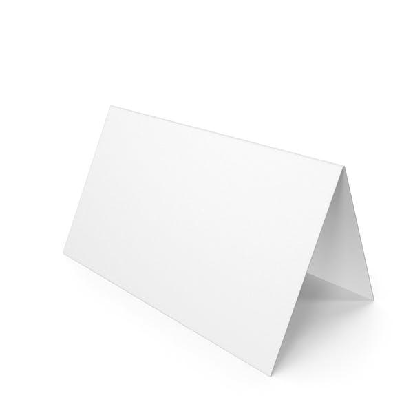 White Schreibtisch-Papierbanner