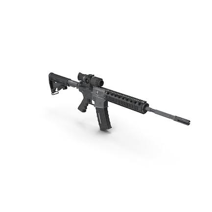 Rifle de asalto con alcance de arma térmica