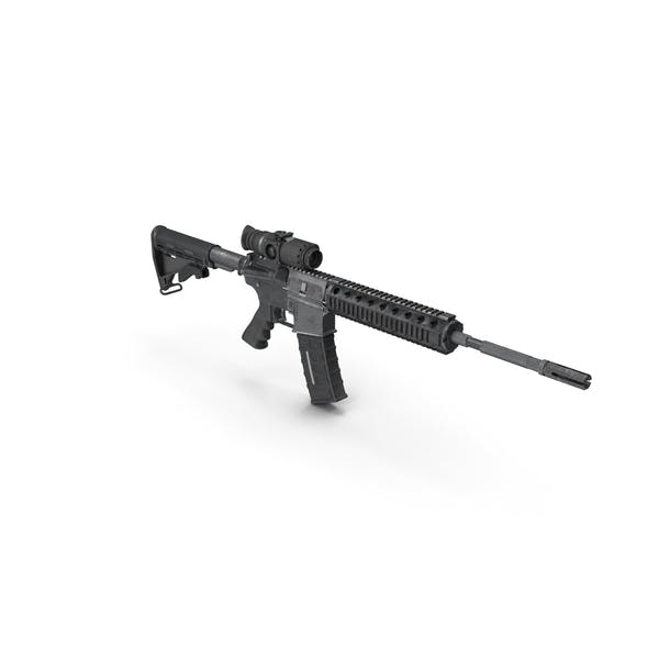 Assault Rifle with Thermal Weapon Scope