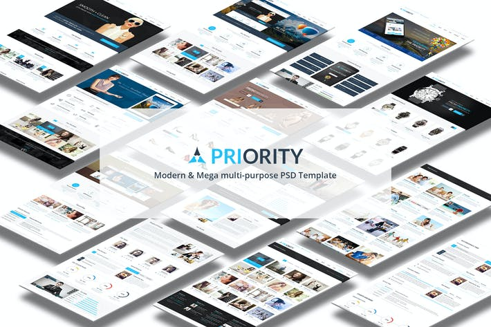 Thumbnail for Priority | Multi-Purpose PSD Template