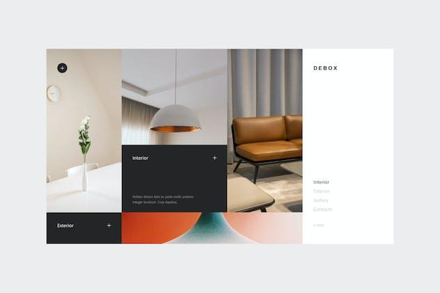 Debox – interior design web template
