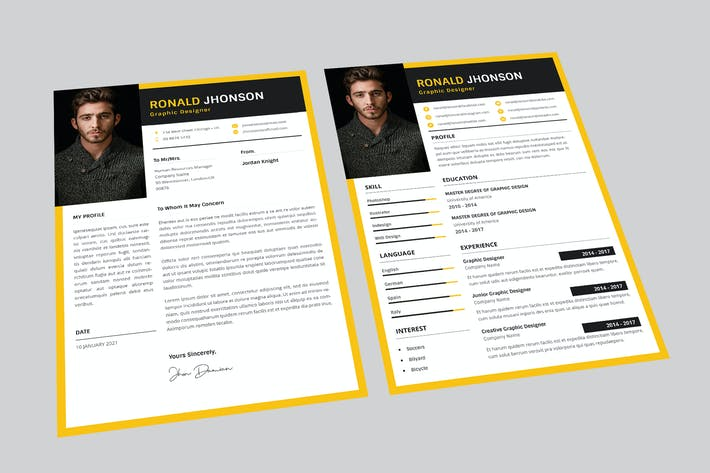 Thumbnail for Ronald Graphic Resume Designer