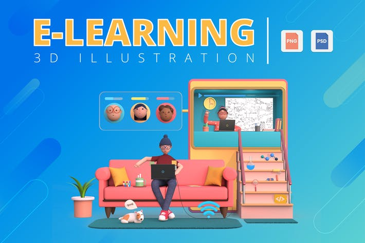Thumbnail for 3D E-Learning Illustration