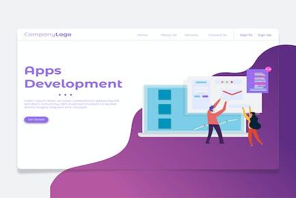 Développement d'applications - bannière et page de destination