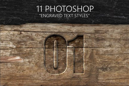 11 Engraved Text Styles