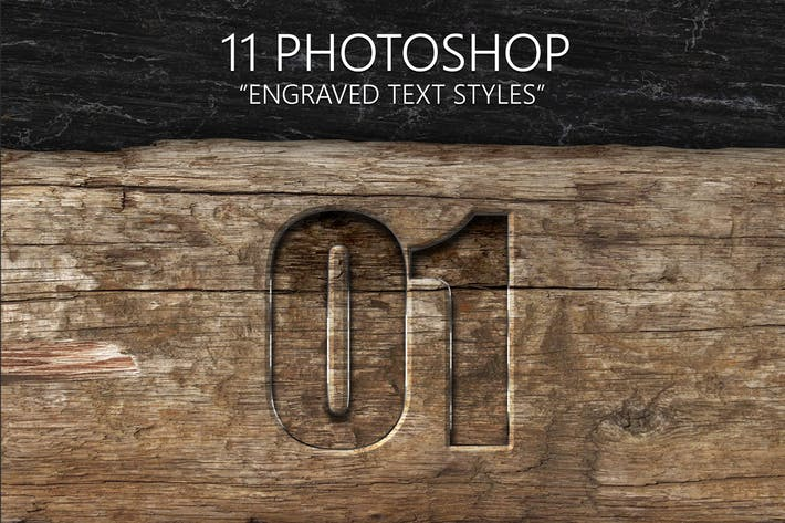 Cover Image For 11 Engraved Text Styles