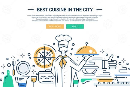 Best Cuisine In the City - line design website