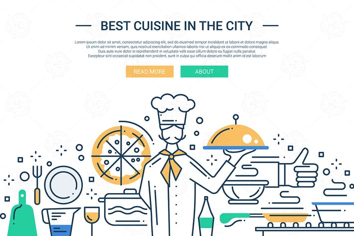 Thumbnail for Best Cuisine In the City - line design website