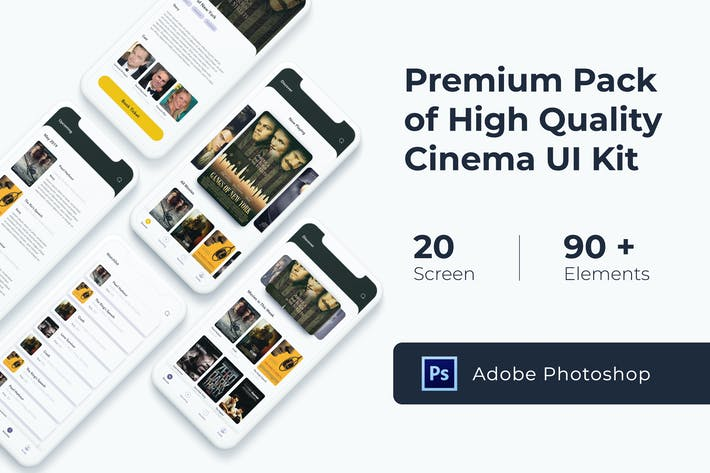 Thumbnail for Cinema Movie UI KIT for Photoshop