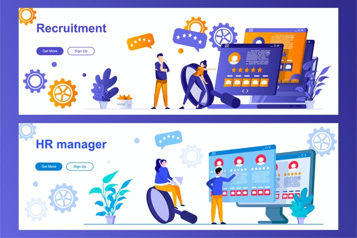 Thumbnail for HR Management and Recruitment Web Banners