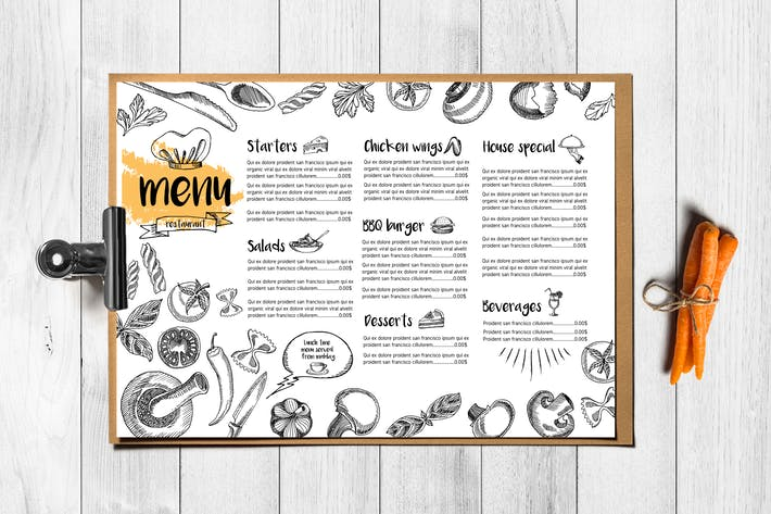 Menu Food Template