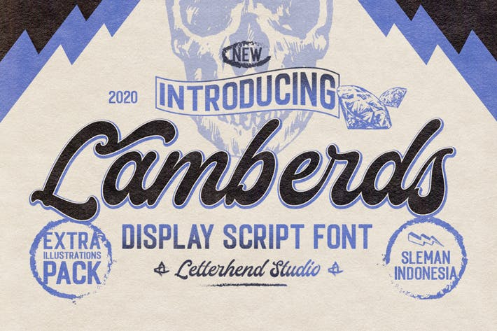 Lamberds - Показать шрифт сценария