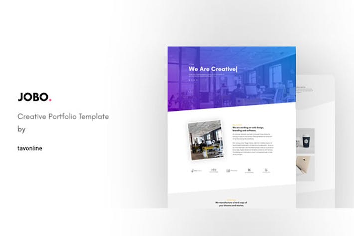 Thumbnail for Jobo - Creative Portfolio HTML Template
